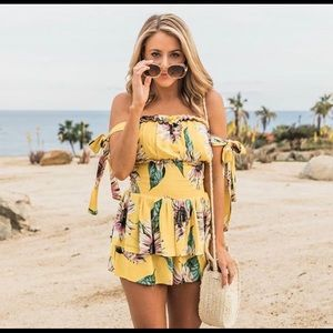 Pink Lily Other - Floral Romper